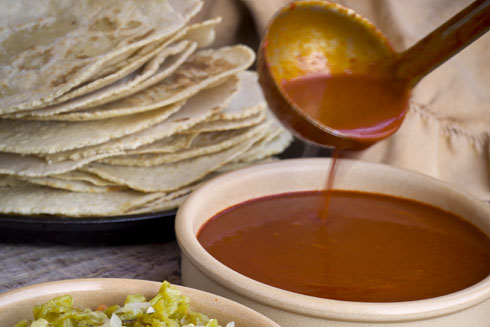 Red and green chile sauces...the foundation of authentic New Mexican cuisine.