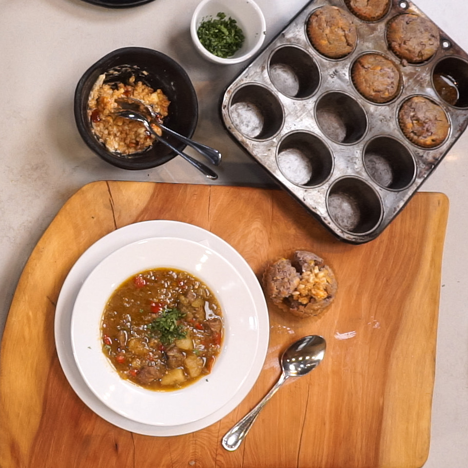 Classic Green Chile Stew and Blue Corn Muffins with Chef Allen Smith