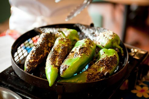Roasting Green Chiles